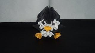 getlinkyoutube.com-Pinguino origami 3D paso a paso