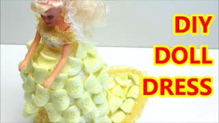 getlinkyoutube.com-DIY Doll Dress Crafts/Ideas from Plastic Bottle and Packing Chips