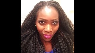 getlinkyoutube.com-How to : Crochet Braids using Brazilian Curl - Synthetic hair Part(1)