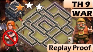 getlinkyoutube.com-TH 9 (TOWN HALL 9) ANTI 2 STARS WAR BASE || CLASH OF CLANS NEW UPDATE || REPLAY PROOF