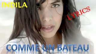 getlinkyoutube.com-COMME UN BATEAU - INDILA  paroles-Lyrics (Music Video)