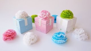 getlinkyoutube.com-Scatoline Battesimo Bimbo/Bimba - Favor cube boxes (Collab. SsVersion DIY)