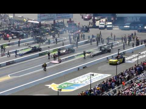 ZMAX 4Wide NHRA Top Fuel Qualifying Round 3 vid2