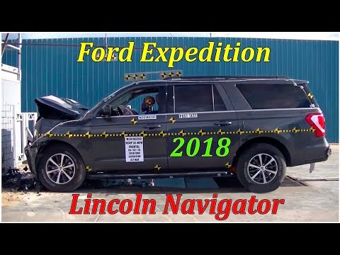 Фронтальный краш тест Ford Expedition & Lincoln Navigator 2018