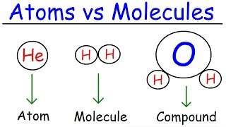 Elements, Atoms, Molecules, Ions, Ionic and Molecular Compounds, Cations vs Anions, Chemistry width=