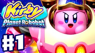 Kirby Planet Robobot - Gameplay Walkthrough Part 1 - Area 1: Patched Plains! (Nintendo 3DS English)
