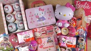 HELLO KITTY & BARBIE Candy Toys DISNEY PRINCESS Minnie Mouse Kinder Surprise Playmobil PEZ