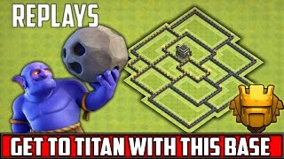 Clash Of Clan TH9 Champion/Titan League Base Build - With REPLAYS - TH11 UPDATE