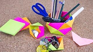 getlinkyoutube.com-Cajitas Modulares de Origami + organizador