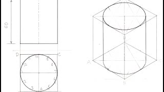 Drawing Isometric View of a Cylinder