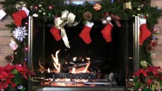 getlinkyoutube.com-♥♥ 1 Hour Christmas Holiday Yule Log Fireplace (in HD)