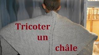 getlinkyoutube.com-tricoter un châle facile