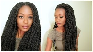 getlinkyoutube.com-Realistic Senegalese Twist Crochet Braids With Individual Twist Perimeter (Pre-twisted hair)