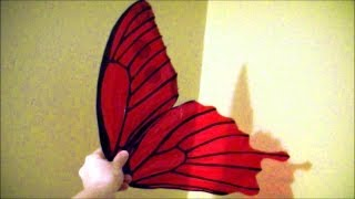 getlinkyoutube.com-Make $10 cellophane fairy wings: No wire, safe for kids, patterns included.