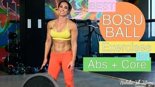 Best Bosu Ball Exercises for Abs and Core | Natalie Jill