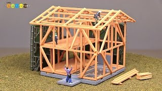 getlinkyoutube.com-Diocolle Building Collection Miniature Building Under Construction A Kit ジオコレ 建物コレクション ミニチュア建築中の建物A