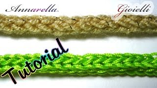 getlinkyoutube.com-Tutorial tubolare tricotin all'uncinetto | How to crochet an i cord