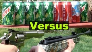 getlinkyoutube.com-Air Guns Shooting Cans (Pellet, BB, and Airsoft) in Slow Motion