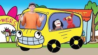 getlinkyoutube.com-Wheels On The Bus with Matt | Children's Song | Preschool, Kindergarten, Learn English