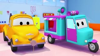 Tom The Tow Truck and the Candy Car in Car City | Cars & Trucks construction cartoon (for children)