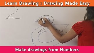getlinkyoutube.com-How to draw using Numbers | Learn Drawing For Kids | Learn Drawing Step By Step For Children