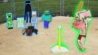 getlinkyoutube.com-Monster School in Real Life Episode 6: Baseball - Minecraft Animation
