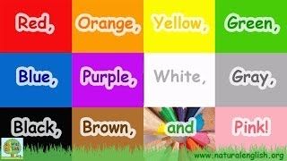 getlinkyoutube.com-The Colors Song ~ Learn the Colors / Colours ~ Simple Learning for Children ~ by Natural English