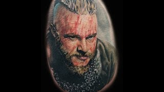 "getlinkyoutube.com-Tattoo Ragnar Lodbrok by Marcos Gutiérrez ""Tattoo time lapse"""