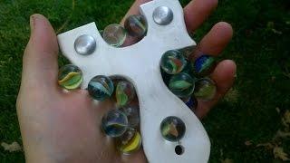 getlinkyoutube.com-Budget Slingshot Ammo Test: 5/8 Inch Glass Marbles