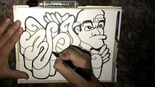 getlinkyoutube.com-Drawing a (REQUEST) - (WEL) and a graffiti character