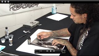 getlinkyoutube.com-Custom Airbrush Stencil Making the Cory Saint Clair Way