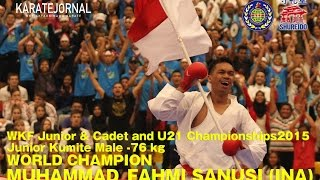 getlinkyoutube.com-WKF2015 Junior Kumite Male -76 kg World champion MUHAMMAD_FAHMI SANUSI (INA)