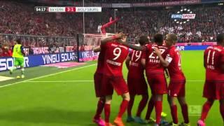 getlinkyoutube.com-5 goli Roberta Lewandowskiego Bayern Monachium vs VfL Wolfsburg ( 5 : 1)