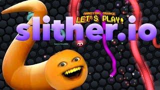 getlinkyoutube.com-Annoying Orange Plays - SLITHER.IO: #1 BIGGEST SNAKE!!!