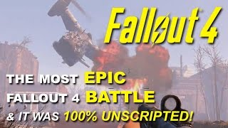 getlinkyoutube.com-Fallout 4: One of the Most Epic Battles I've Seen and it Was Fully Random & Unscripted!
