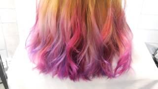 getlinkyoutube.com-옴브레 그라데이션 투톤 염색 디자인 - ombre design & gradation two tone hair color - 요닝 기우