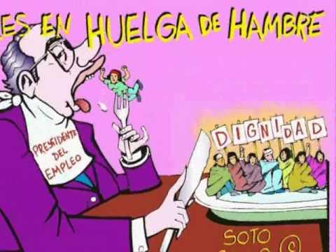 sme huelga de hambre mujeres en defensa del empleo caricatura politica