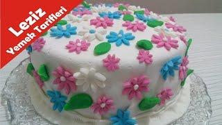 Bahar Temalı Şeker Hamuru Pasta Nasıl Yapılır ( Leziz Yemek Tarifleri )