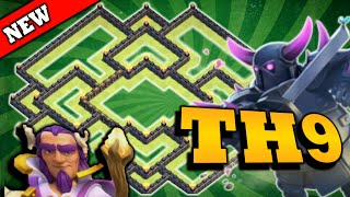 getlinkyoutube.com-Clash of Clans - 2 Air Sweeper - Push To Champion TH 9 TROPHY BASE
