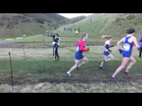 Great Edinburgh XC 2015 Women's 6k slow motion - Gorecka, Britton, Gebre