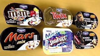 getlinkyoutube.com-Mars Twix m&m Yogurt - Smarties and Chewbacca crunchy Yoghurt