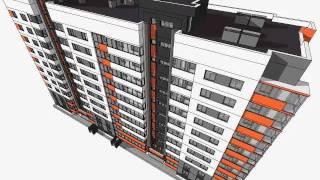 getlinkyoutube.com-Multi-storey Residential Building Modelling in Sketchup