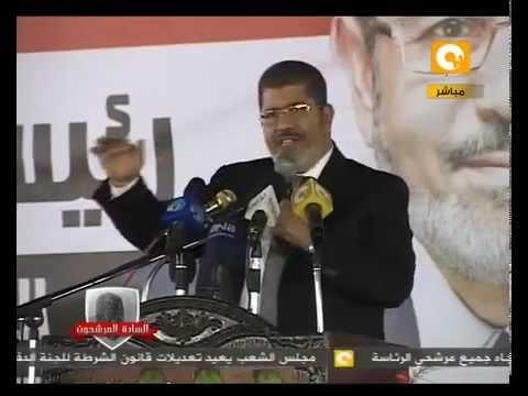 محمد مرسى يشرح مشروع النهضة .. و يقول له مؤخرة .. مسخرة