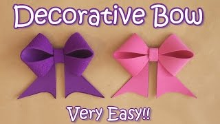 getlinkyoutube.com-Decorative Bow - VERY EASY - Ana | DIY Crafts