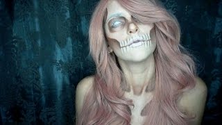 getlinkyoutube.com-Halloween Makeup White Skull