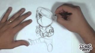 getlinkyoutube.com-Como desenhar Chibi - Kakashi Hatake