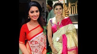Actress Sneha Saree Designs