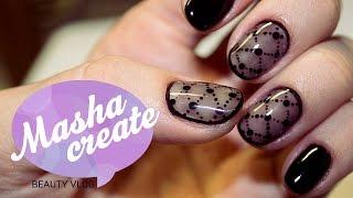 getlinkyoutube.com-Дизайн ногтей колготки. Прозрачный дизайн ногтей