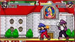 getlinkyoutube.com-Mugen Super Mario Bros vs Super Mario Bros