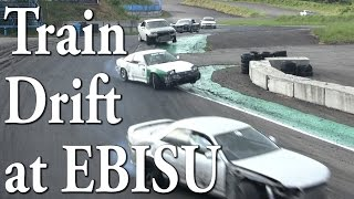 Jumping  Train drift at EBISU MINAMI みんなで数珠繋ぎ!?